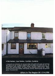 £114, 950       Cozy 2 bed terraced cottage on edge of City of Carlisle